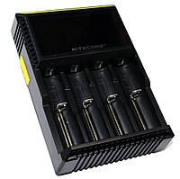 Зарядное устройство Nitecore Digicharger D4, Black, 4xAA/AAA/AAAA/C Ni-MH/Ni-Cd, 18650/26650 Li-Ion, LCD экран, от 220V/12V