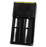Зарядное устройство Nitecore Intellicharger NEW i2, Black, 2xAA/AAA/AAAA/C/D Ni-MH/Ni-Cd, 18650/26650 Li-Ion, от 220V