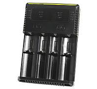 Зарядное устройство Nitecore Intellicharger NEW i4, Black, 4xAA/AAA/AAAA/C/D Ni-MH/Ni-Cd, 18650/26650 Li-Ion, от 220V