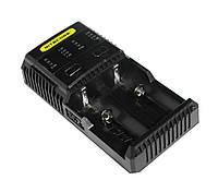 Зарядное устройство Nitecore Super Charger 2, Black, 2xAA/AAA/AAAA/C/D Ni-MH/Ni-Cd, 18650/26650 Li-Ion, от 220V
