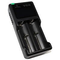 Зарядное устройство XTAR VC2, Black, для 2 x Li-Ion аккумуляторов, LCD экран, зарядка от USB, водонепроницаемый чехол