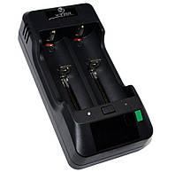 Зарядное устройство XTAR VP2, Black, для 2 x Li-Ion аккумуляторов, LCD экран, от 220V / автозарядки
