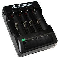 Зарядное устройство XTAR VP4, Black, для 4 x Li-Ion аккумуляторов, LCD экран для каждого канала, от 220V / автозарядки