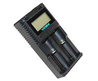 Зарядное устройство Videx VCH-UT200, Black, 2xAA/AAA Ni-MH/Cd, LCD  дисплей, 2 независимых канала