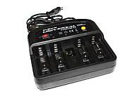 Зарядное устройство Энергия EH-305 Universal Premium, Black, 4xAA/AAA/C/D/Крона, Разряд, Восстановление памяти, AA/C/D -> 800 mA, AAA -> 300 mA, Крона