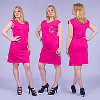 Женское домашнее платье без рукавов Турция. MORAL 01-23 M-R. Размер 48-50.