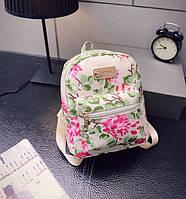 Детский рюкзачок с цветами Белый
