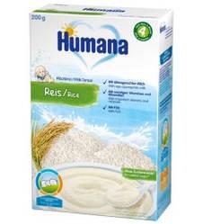 Каша Humana молочная рисовая , 200г
