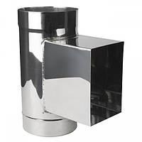 Ревизия кислотостойкая с прямоугольным лючком и дверкойØ400