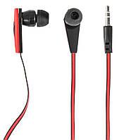 Наушники Defender Trendy-704 Black/Red, Mini jack (3.5 мм), вакуумные, кабель 1.1 м