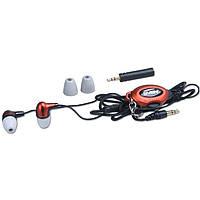 Наушники Sven GD-2500 White/Orange, Mini jack (3.5 мм), вакуумные, переходник на Mini-jack 2,5 мм, кабель 0.8 м