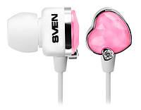 Наушники Sven SEB-150 (GD-1500) Glamour White/Pink, Mini jack (3.5 мм), вакуумные, кабель 1.2 м