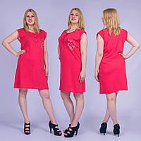 Женское домашнее платье без рукавов Турция. MORAL 01-24 M-R. Размер 48-50.