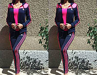 Костюм спортивный женский ADIDAS двойка ткань ластик супер костюмы
