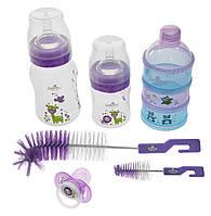 Подарочный набор для кормления новорожденных bayby bgs6200 фиолетовый