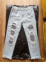 Молодежные укороченные джинсы