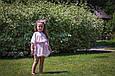 """Комплект шифоновых пончо """"Шарм"""", взрослое и детское,  розовый, фото 4"""