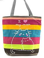 Легкая льняная пляжная женская сумка art. Б/Н (100960)