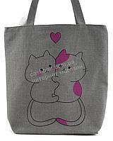 Легкая льняная пляжная женская сумка Б/Н art. Б/Н (100071)