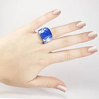 Кольцо крупное с синим камнем Арт. RN057SL (18), фото 5