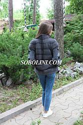 Бомбер-куртка из натурального меха норки