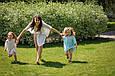 """Комплект шифоновых пончо """"Шарм"""", взрослое и детское, белый, фото 6"""