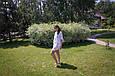 """Комплект шифоновых пончо """"Шарм"""", взрослое и детское, белый, фото 3"""