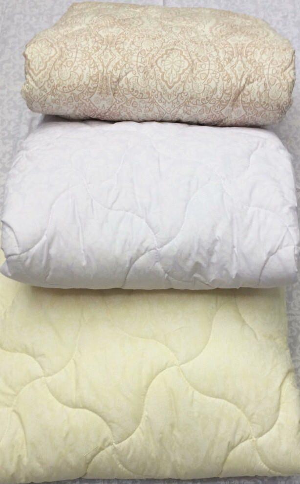 Одеяло летнее двуспальное лебяжий пух 200г/м2 180*210 хлопок (7208) TM KRISPOL Україна