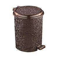 Контейнер для мусора с педалью Ажур, темно-коричневый 27x30x33,5см , 17л Elif plastik 326-5LF