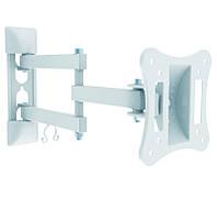 """Настенное крепление для телевизора 13-27"""" Brateck LPA51-113 White, нагрузка: до 15 кг , наклон: до +/-20 град, VESA 100x100 мм"""