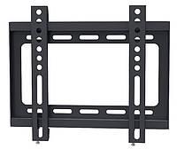 """Настенное крепление для телевизора 15-26"""" Walfix S-221B Black, VESA 200x200, до 30 кг, отступ от стены 18 мм"""
