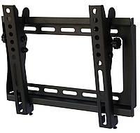 "Настенное крепление для телевизора 15-37"" Walfix S-122B Black, VESA 200x200, до 30 кг, наклон 12°, отступ от стены 37 мм"