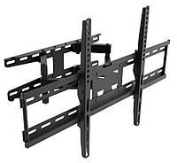 "Настенное крепление для телевизора 26-65"" Walfix R-512B Black, VESA 600x400, до 30 кг, поворот на 120°, наклон 15°, отступ от стены 70-350 мм"
