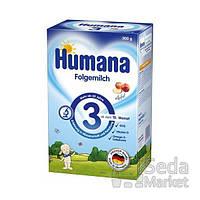 Сухая молочная смесь Humana 3 с пребиотиками галактоолигосахаридами (ГОС), 300 г