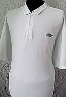 Стильная мужская футболка поло UMBRO белая  ХХL