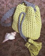 Сумка-торба из трикотажной пряжи