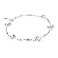 Серебряный браслет со стрекозами Арт. BS002SV