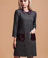 Демисезонное платье с накладными карманами(5879ie)
