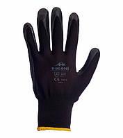 Рабочие перчатки нейлоновые с нитриловым покрытием неполный облив Doloni 4521