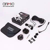 Петличный микрофон (петличка) Arimic с 2-мя микрофонами.