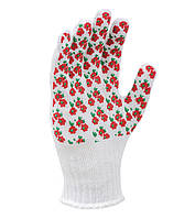 4298 Рукавички трикотажні Весняні квіти білосніжні пвх 10 кл/10р. (100 пар/10)