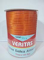 Косая бейка атласная цв S-849 оранжевый (уп 131,6м) Veritas