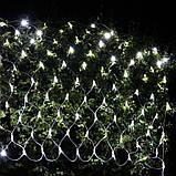 СВІТЛОДІОДНА ГІРЛЯНДА МЕРЕЖА 2*1м, колір білий, фото 4