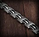 Мужской Браслет сталь с  вставкой, фото 4
