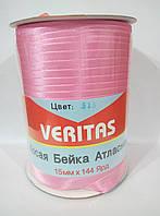 Косая бейка атласная цв S-513 розовый (уп 131,6м) Veritas