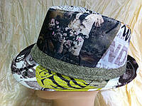 Летняя шляпа федора с рисунком