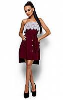 Жіноче коктейльне плаття марсала Elisa