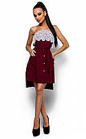 Жіноче коктейльне плаття марсала Elisa (S-M)