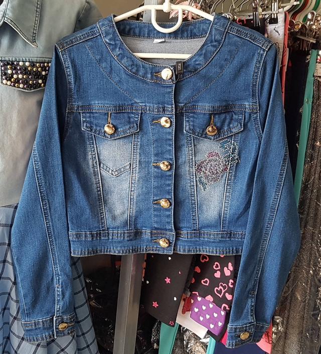 детский джинсовый пиджак для девочки