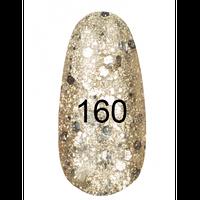 Гель лак №   160 (жемчужный с золотым перламутром) 7 мл.